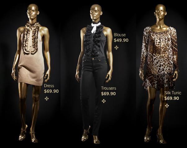 Roberto cavalli h&m gold dress online