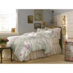 simply shabby chic bramble duvet set green