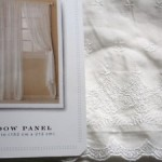 simply shabby chic white voile embroidered curtains